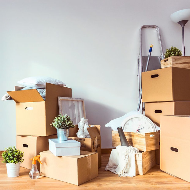 cardboard-boxes-and-cleaning-things-for-