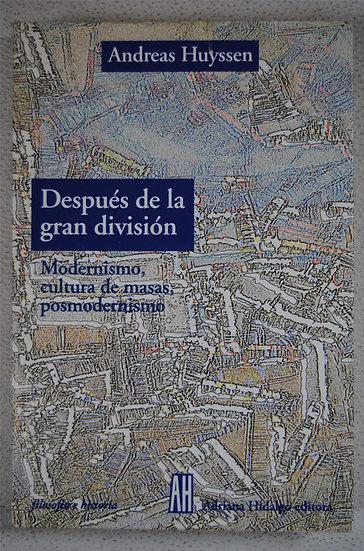 DESPUÉS DE LA GRAN DIVISIÓN. HUYSSEN, ANDREAS