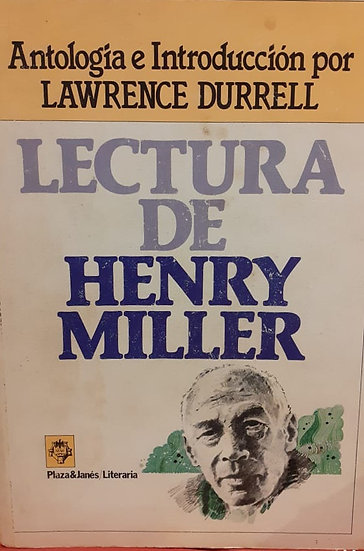 LECTURA DE HENRY MILLER. DURRELL, LAWRENCE (ED.)