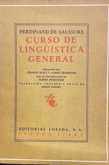CURSO DE LINGÜÍSTICA GENERAL. DE SAUSSURE, FERDINAND