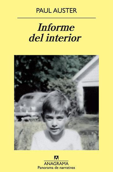 INFORME DEL INTERIOR. AUSTER, PAUL