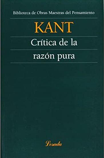 CRÍTICA DE LA RAZÓN PURA. KANT, I.