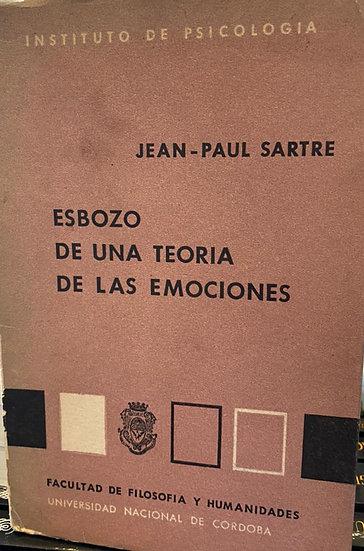 ESBOZO DE UNA TEORÍA DE LAS EMOCIONES. SARTRE, JEAN-PAUL