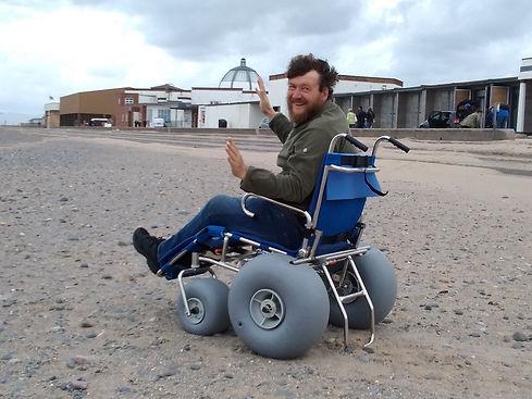Reece Slater in Sandcruiser chair 05.09.