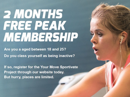 FREE GYM MEMBERSHIPS FOR 16 - 25 YEAR OLDS