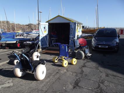North Berwick Beach wheelchairs base web