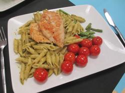 George Hill of Shakespeare School prepared Pesto Chicken Pasta web