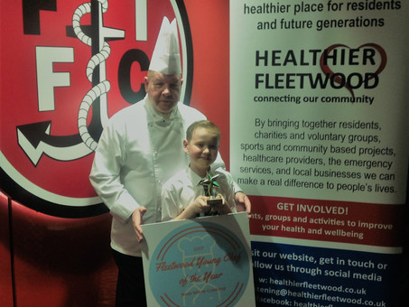 ALFIE IS THE FLEETWOOD YOUNG CHEF OF THE YEAR