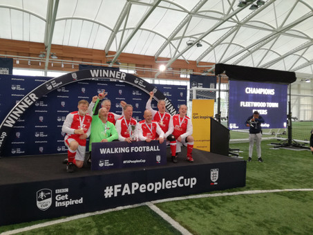 CONGRATULATIONS TO FLEETWOOD'S WALKING FOOTBALLERS