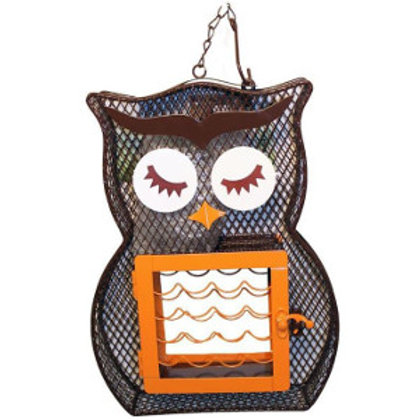 Suet & Seed Owl Bird Feeder