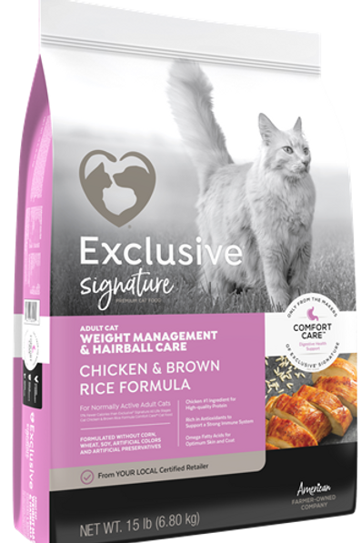 Exclusive Cat Weight Management and Hairball Care