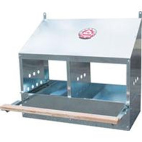 2-Hole Galvanized Nesting Box