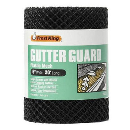 Black roll of plastic mesh gutter guard