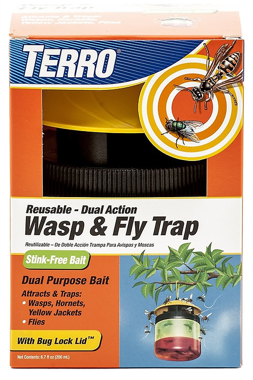 Orange box wasp and fly trap