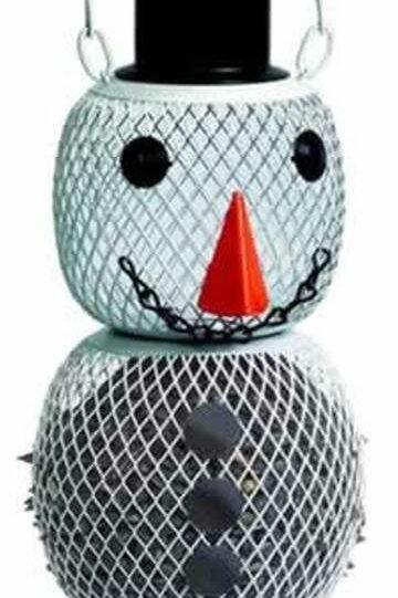 No No Snowman Birdfeeder