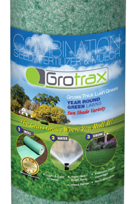 Roll of grass seed, fertilizer, and mulch all-in-one