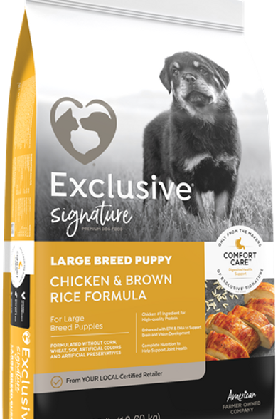 Exclusive Signature Large Breed Puppy Chicken and Brown Rice