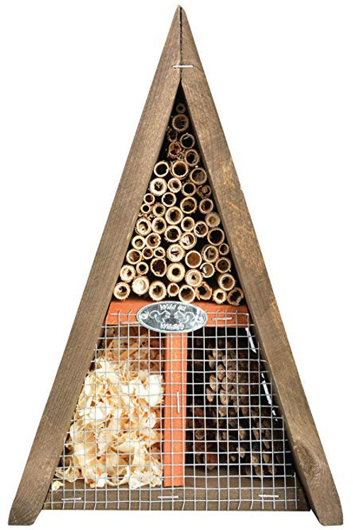 Wooden triangular shaped insect house