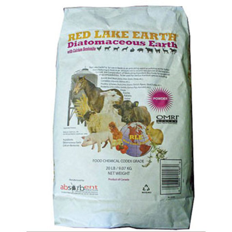 White bag of diatomaceous earth