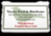Nissley Feed wild bird frequent buyer card.