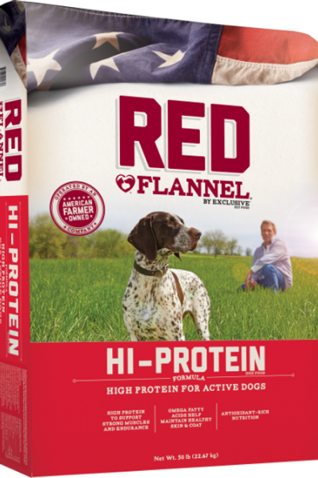Red Flannel Hi-Protein Dog Food