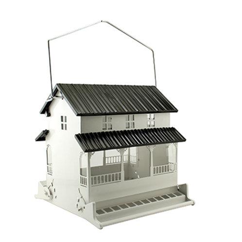 Rustic Farmhouse White Bird Feeder