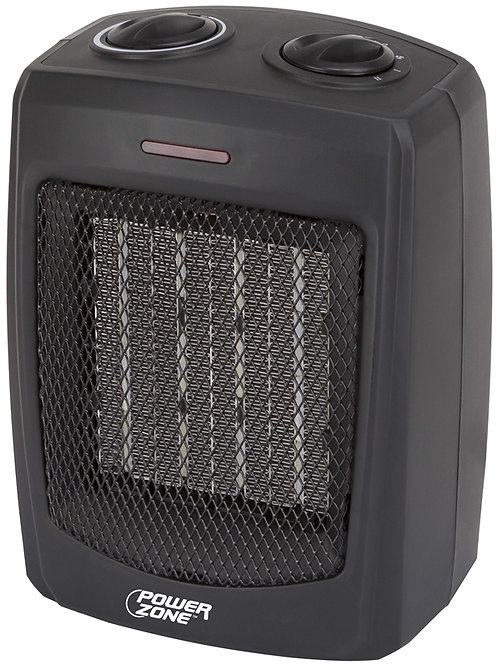 Black cube-shaped heater.