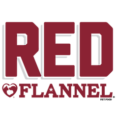 Red Flannel pet food. logo