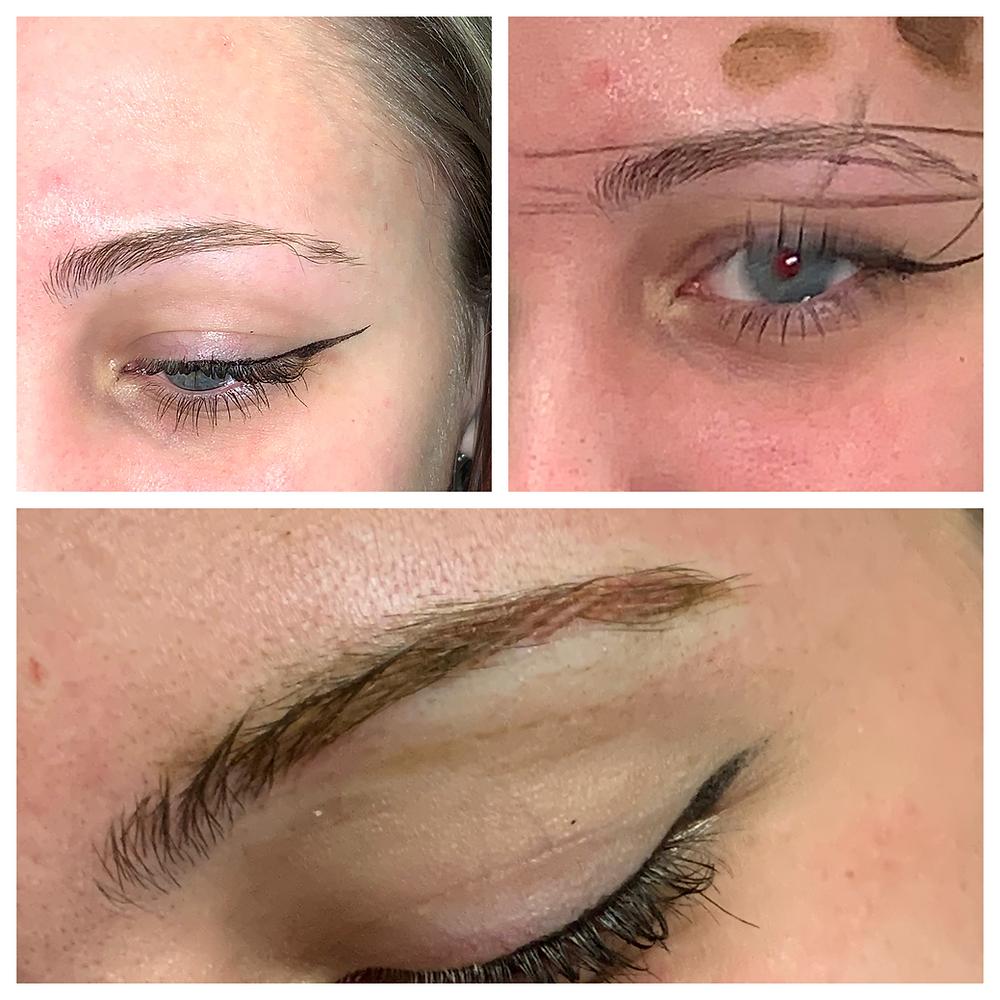 an example of an eyebrow tattoo procedure