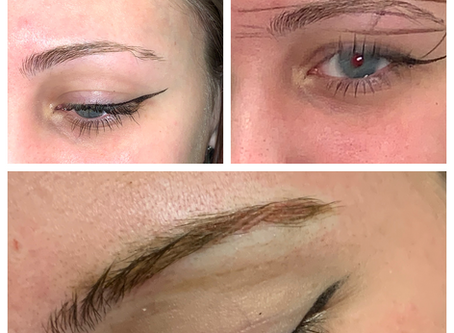 The Making of A Hairstroke Brow to Camoflauge a Scar - Eyebrow Tattoo