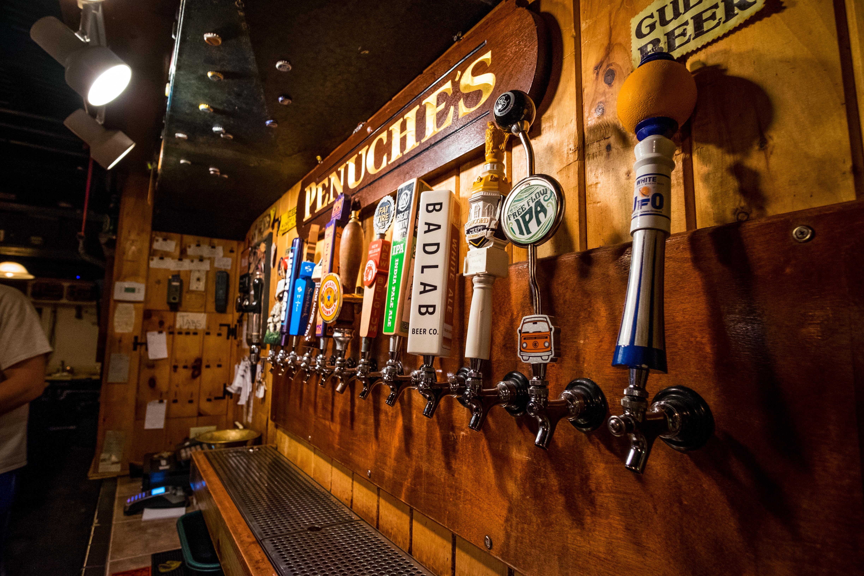 Beers on draft at Penuche's
