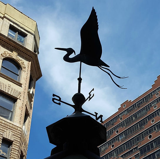 weather vane kiosk West 80's Upper West Side