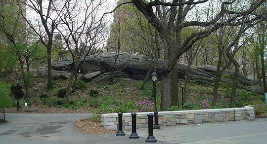 Manhattan schist Riverside Park