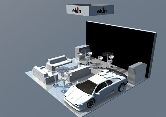 Ekin Technology exhibition stand by Expomod in Gulf Traffic 2015 in Dubai