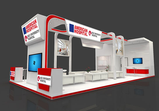 Koc Group Hospitals exhibition stand by Expomod in Arabhealth 2016 in Dubai