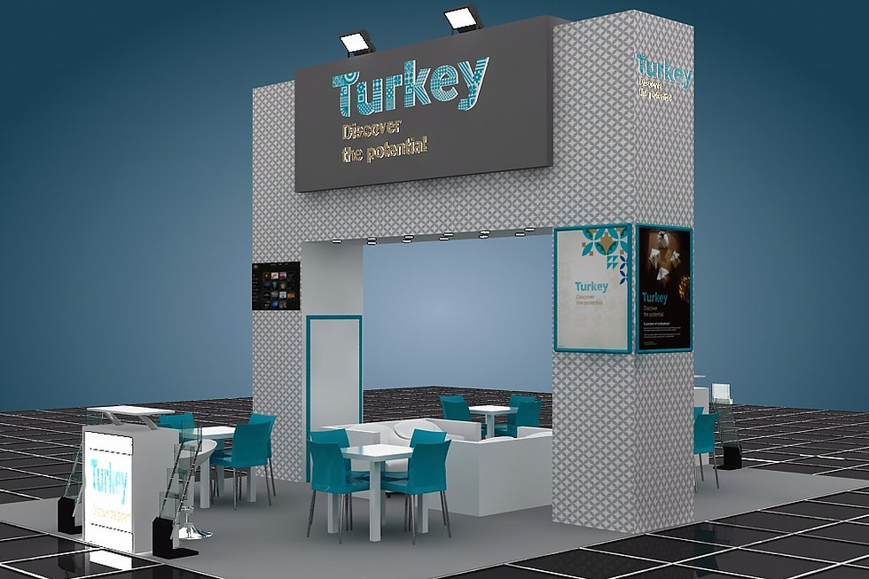 Turkey pavilion by Expomod in Big Show Oman in 2017