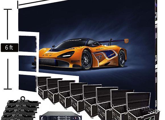 LED Video Wall Screen 6′ x 12′ P2.9mm Indoor Turn-key