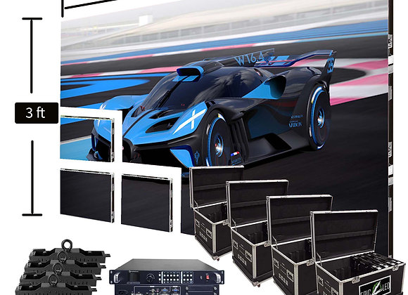 LED Video Wall Screen 3′ x 9′ P1.9mm Indoor Turn-key