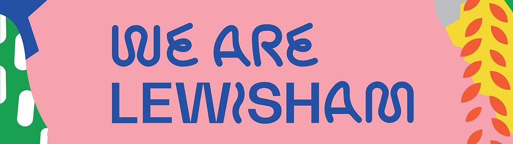 We Are Lewisham pink and blue graphic