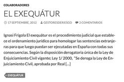 EL EXEQUÁTUR