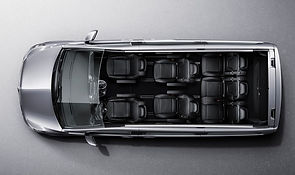 Intérieur Mercedes Class V vue du dessus