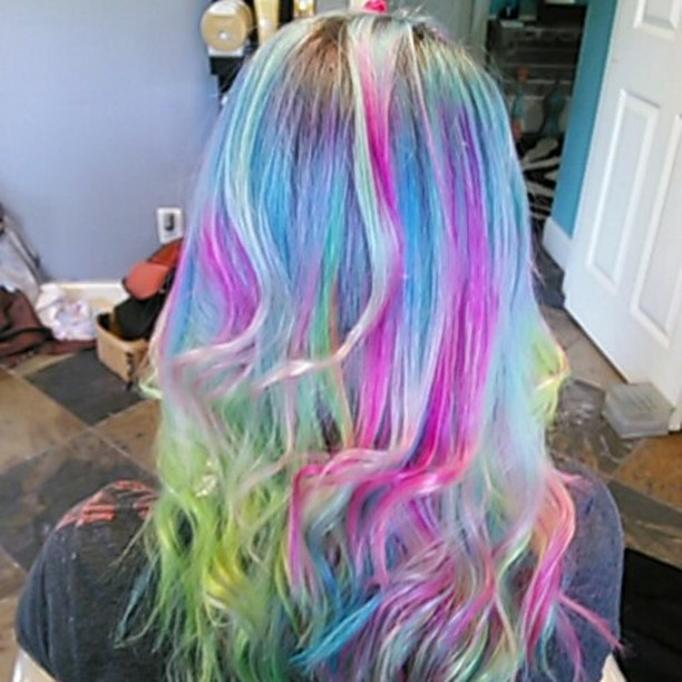 Bright, Colorful Vivid Haircoloring
