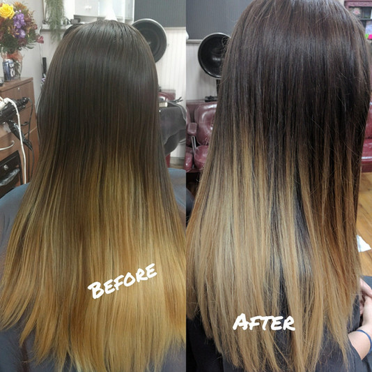 Before and After Balayage