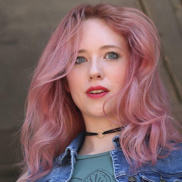 Pastel Pink Vivid Hair