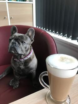 freya and coffee