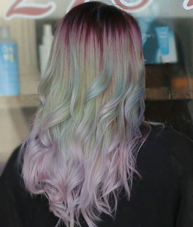 Patel Mint Unicorn Hair Vivid Color