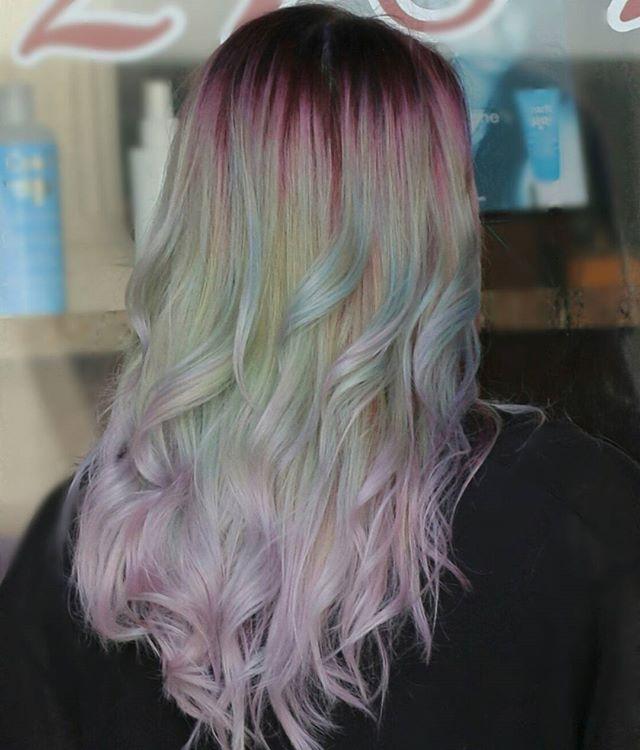 Patel Mint Unicorn Hair Vivid Color