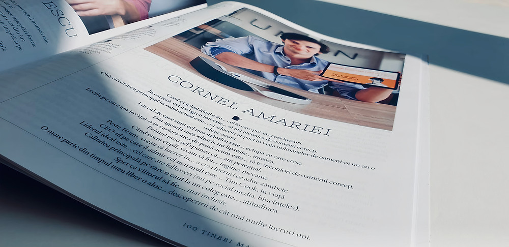 A page of Business MAGAZIN with Cornel Amariei