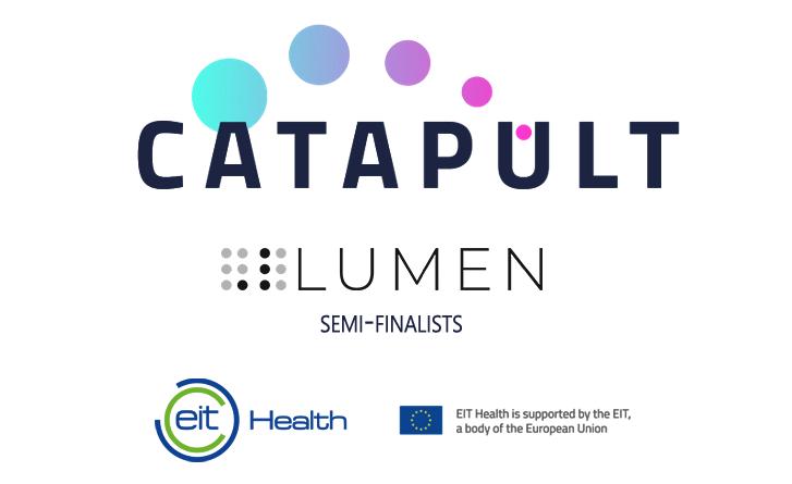 EIT Catapult logo, dotlumen logo, EIT Health logo, European Union Flag