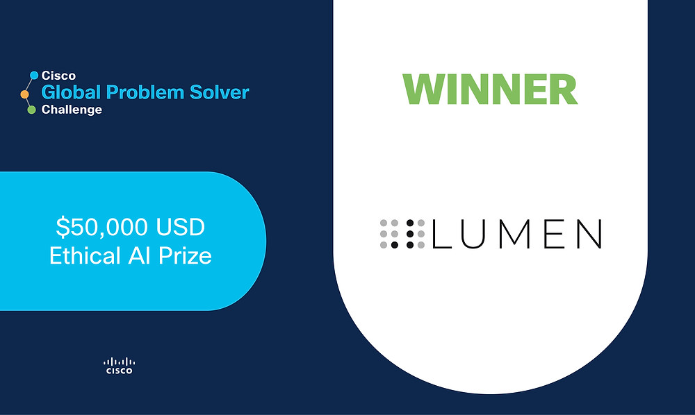 .lumen awarded the $50,000 USD prize